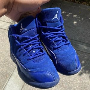 Preschool Jordan blue suede 12